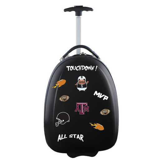 CLTAL601-BLACK: NCAA Texas A&M Aggies Kids Luggage Black